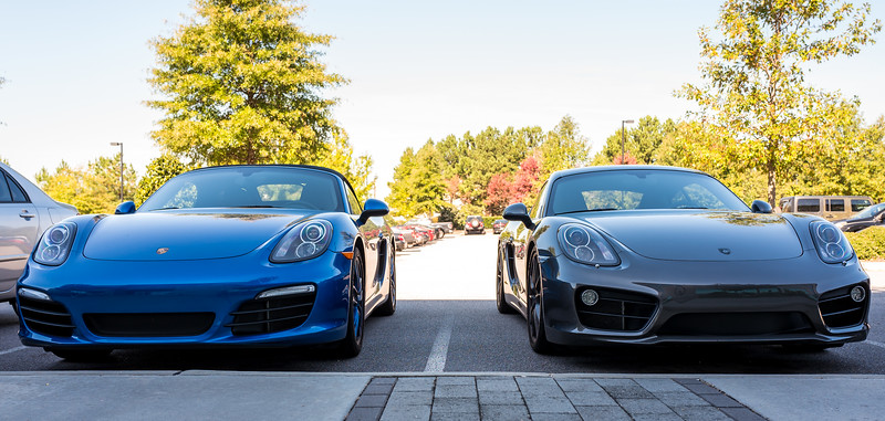 Porsche siblings at Epic Games parking lot