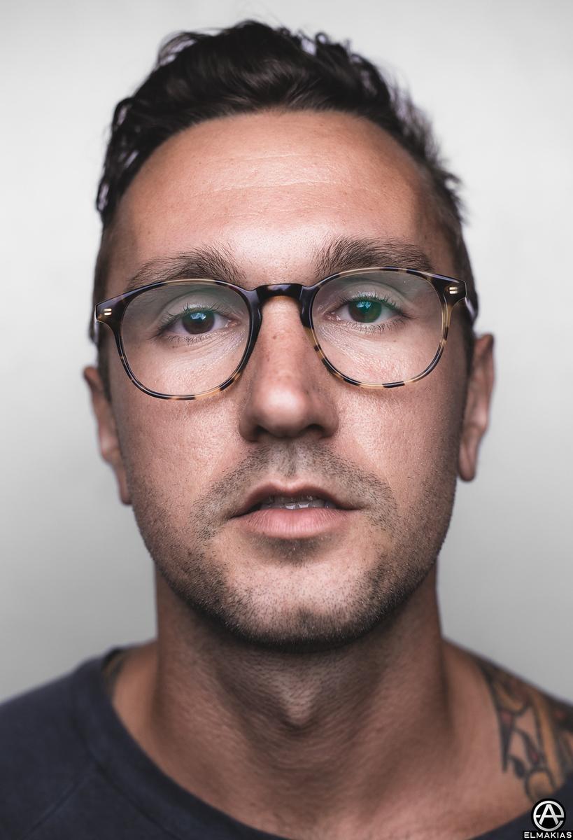 Backstage Portrait of Ryland Oehlers of Citizen at Vans Warped Tour by Adam Elmakias