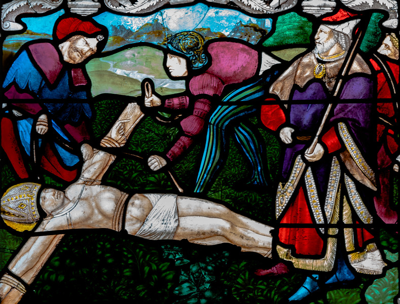 Bourges Cathedral, The Crucifixion of Saint-Denis