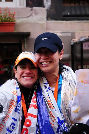 NYC Marathon 2009 - Mary + Melanie
