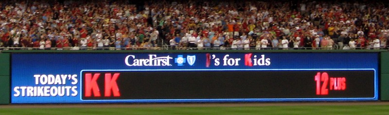 Stephen Strasburg's 14th and final strikeout of the night