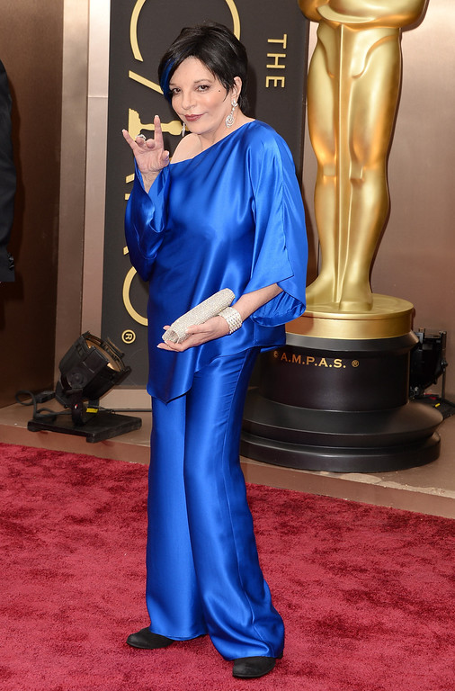 . Actress Liza Minnelli attends the Oscars at Hollywood & Highland Center on March 2, 2014 in Hollywood, California.  (Photo by Jason Merritt/Getty Images)