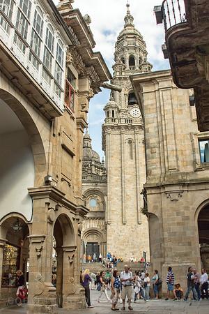 Santiago, Spain Santiago de Compostela, Vigo, Spain:  Plaza