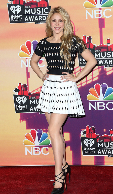 . LOS ANGELES, CA - MAY 01: Singer Shakira attends 2014 iHeartRadio Music Awards at The Shrine Auditorium on May 1, 2014 in Los Angeles, California.  (Photo by Frederick M. Brown/Getty Images)