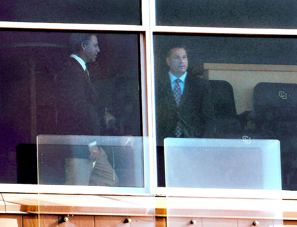 . Cincinnati Butch Jones in town for an interview for the head coaching job at the university of Colorado. John Leyba, The Denver Post