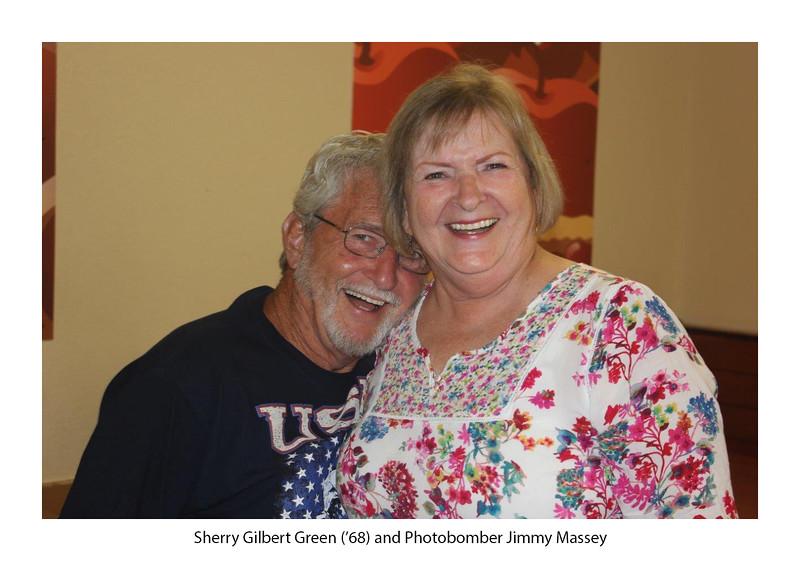 Sherry Gilbert Green '68 (& photobomber, Jimmie Massey).jpg