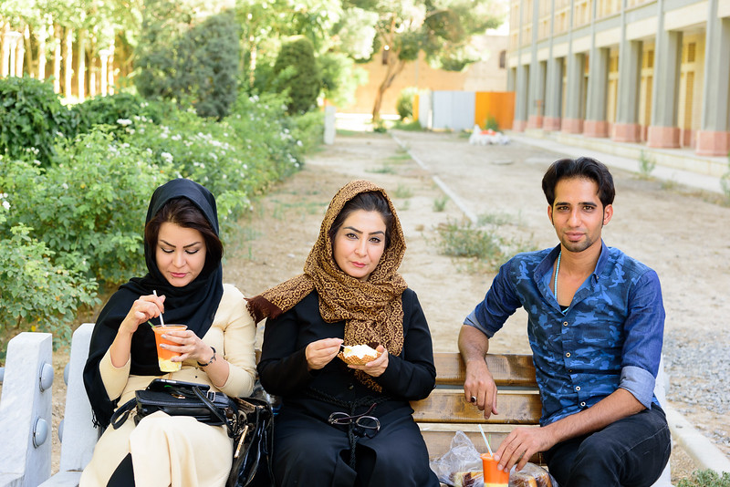 Carrot juice & saffron ice cream, Isfahan