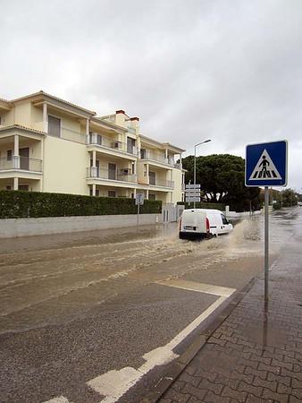 Olhos d'Agua, Algarve : dodging the puddles [Vivienne]