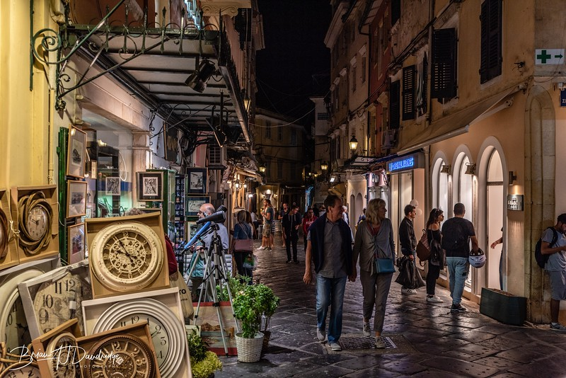 Evening Walk through Corfu Old Town