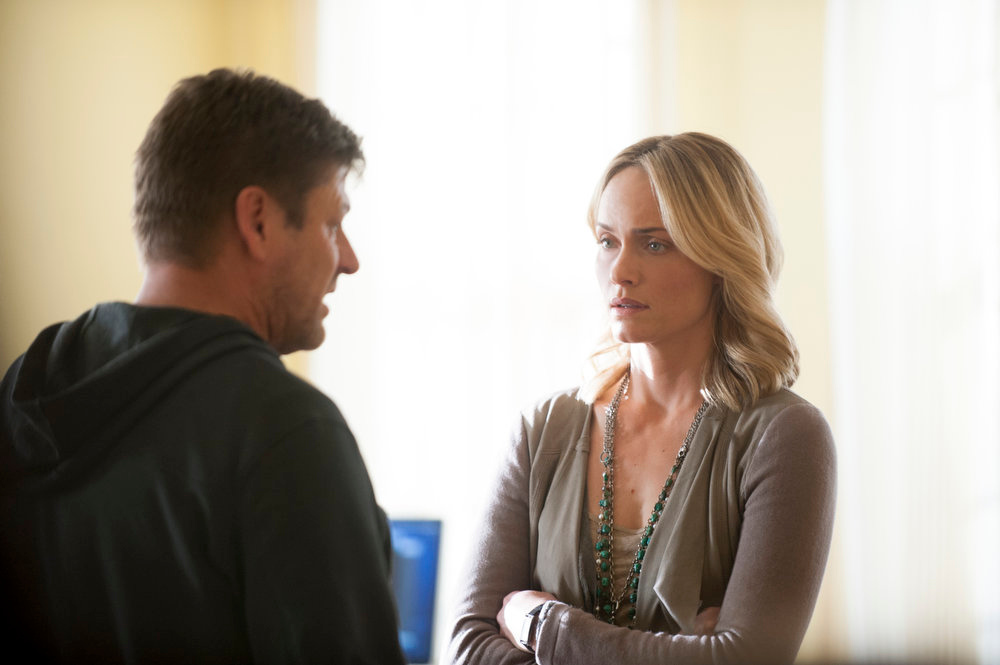 . Sean Bean and Amber Valletta in TNT\'s summer mystery drama �Legends,� about an undercover agent who may not be the person he believes himself to be. (Photo by Richard Foreman/TNT)