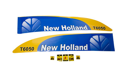 FORD NEW HOLLAND T6050 SERIES BONNET DECAL SET