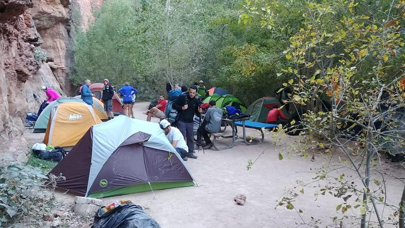 Havasupai campsite 1.5 miles from Supai Village