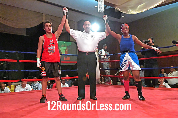 Bout 10 Abigail Martinez, Red Gloves, Empire BC, Detroit, MI -vs- Asia Smith, Blue Gloves, Thurgood Marshall Rec., Cleveland, 132 Lbs
