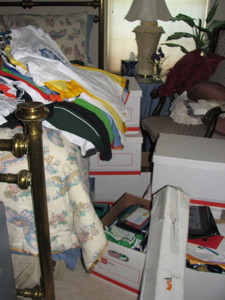 Pictures of stuff strewn through the house while we work on the floor.