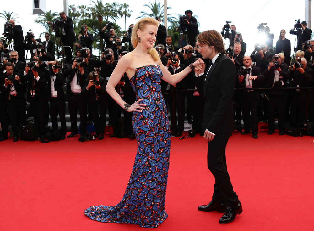 . Jury member Nicole Kidman (L) and Keith Urban attend \'Inside Llewyn Davis\' Premiere during the 66th Annual Cannes Film Festival at Palais des Festivals on May 19, 2013 in Cannes, France.  (Photo by Vittorio Zunino Celotto/Getty Images)