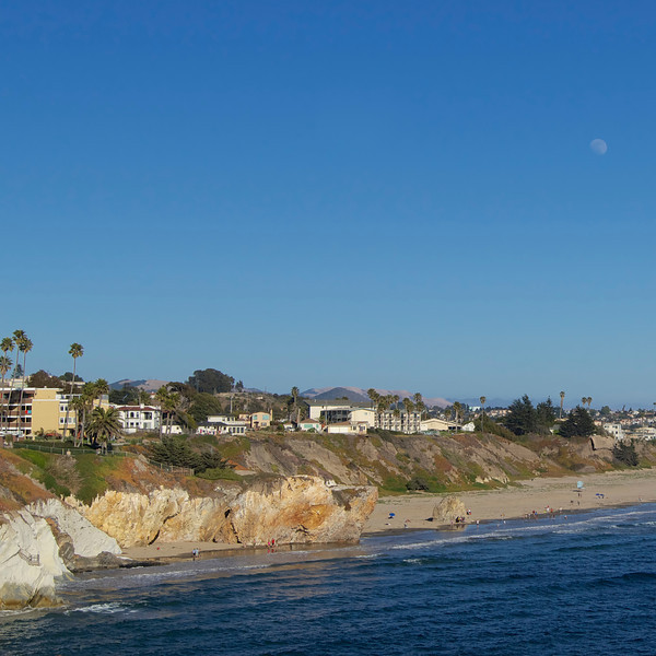 Moon over Pismo Beach