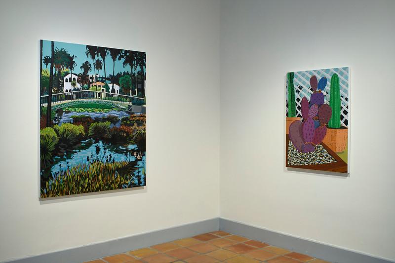Echo Park Lake, 2019 (left), Patio Cactus, 2019 (right)