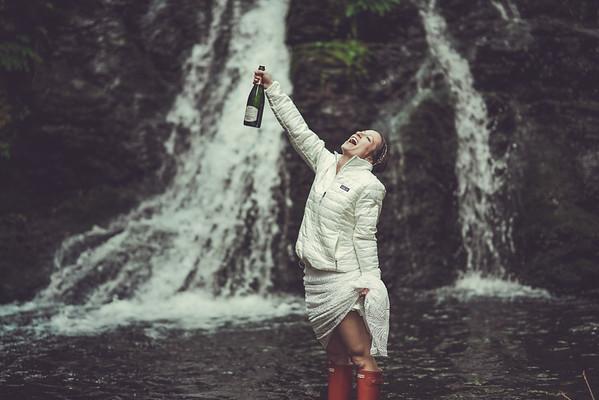 Champagne Waterfall