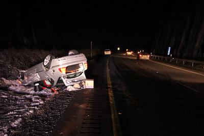 Overturned Vehicle, Mile Marker 138, Kline Township (12-20-2013)