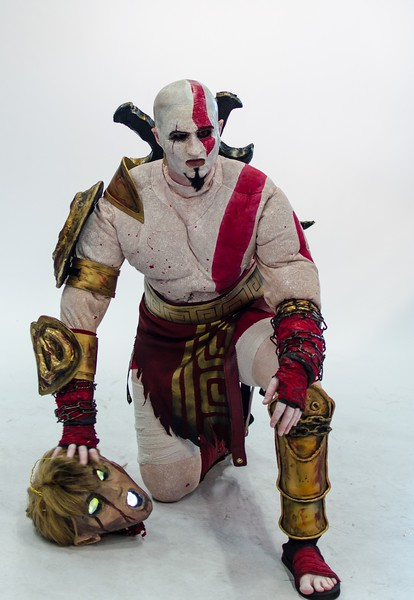 Kratos cosplay @ Gamescom 2012