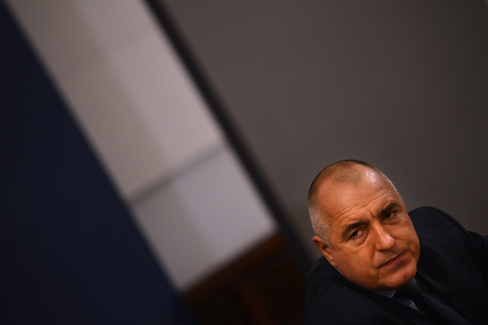 Description of . Bulgarian Prime Minister Boyko Borisov  gives a press conference in Sofia on February 19, 2013. Bulgaria will revoke the electricity distribution license from Czech power utility CEZ amid nationwide protests against high electricity bills, Prime Minister Boyko Borisov said on Tuesday.       DIMITAR DILKOFF/AFP/Getty Images