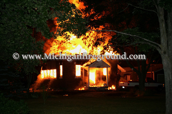 8/13/09 - Mason house fire, 2096 Barnes Rd