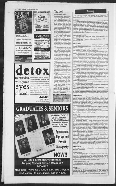 Daily Trojan, Vol. 132, No. 47, November 04, 1997