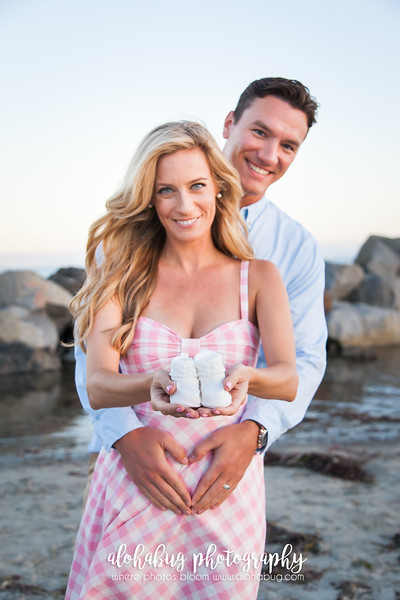 Baby Announcement Photos at Coronado Beach