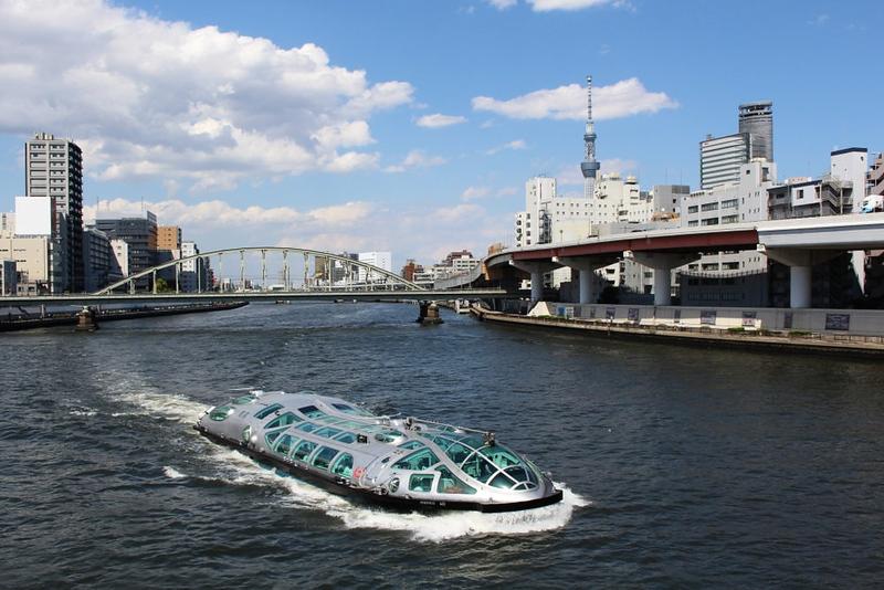 Sumida River Cruise boat Himiko. Editorial credit: Ned Snowman / Shutterstock.com