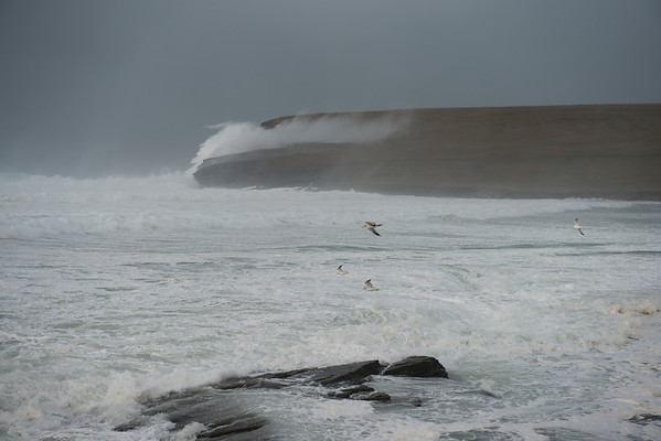 The February 4, 2013 Storm at Marwick Head