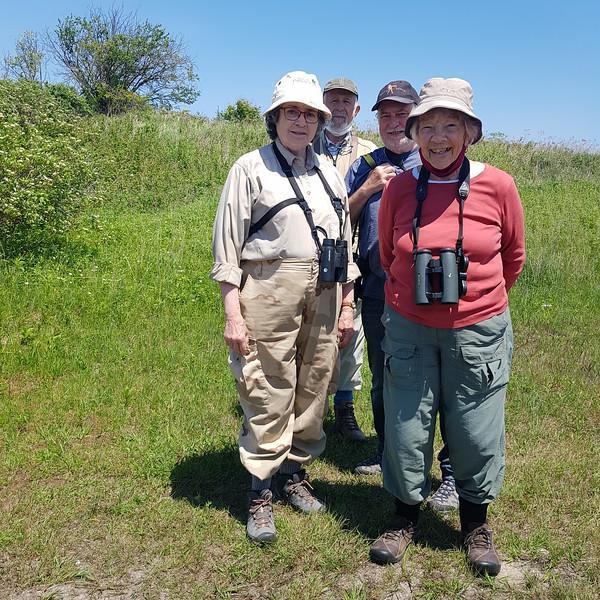 Birding group for Area 1 - Elizabeth Kellogg, Richard Pope, Gerry McKenna, Margaret Bain, in Area 1 (Photo by Gerry McKenna)