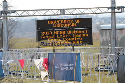 Men PreRace - 2013 NCAA Division I Great Lakes Region Cross Country Championships