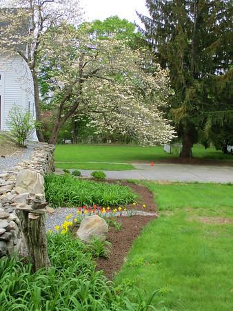 Springtime landscaping at the Barrett-Byam House