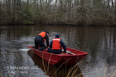 03/02/2019, Animal Rescue, Pittsgrove Twp. Salem County NJ, Maurice River in the area of Eppinger Ave.