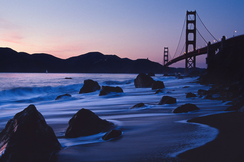 Baker Beach at Dusk San Francisco California