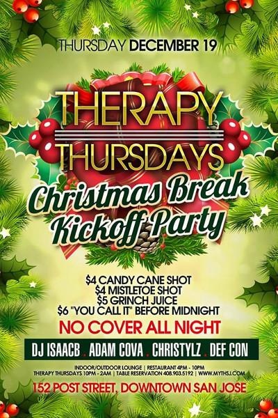 Therapy Thursdays @ Myth Taverna & Lounge 12.19.13
