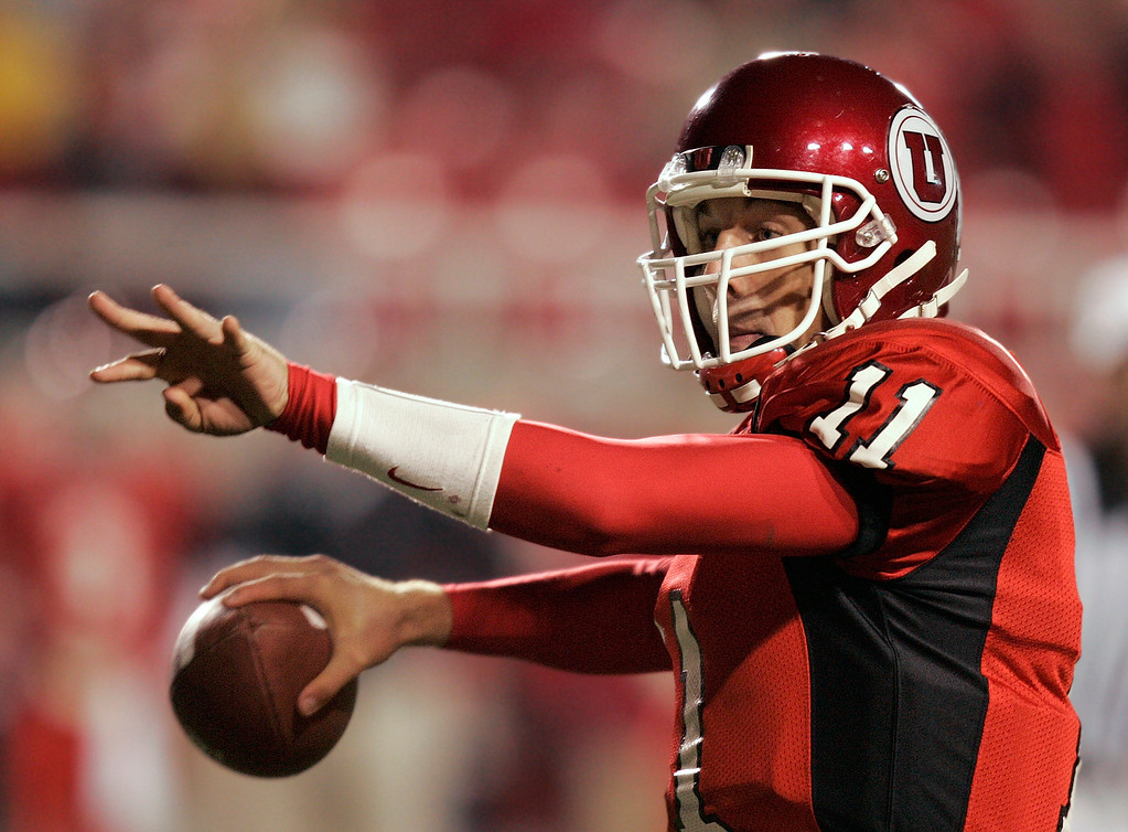 . Alex Smith, Utah: Urban Meyer spent two seasons in Salt Lake City and went 22-2 with Smith leading the way. Smith passed for 5,199 yards, ran for 1,083, accounted for 62 touchdowns and was a Heisman finalist in 2004. Pro career: Smith was selected first overall in 2005 by the San Francisco 49ers and has been starting for Kansas City the last five seasons. (Associated Press file)