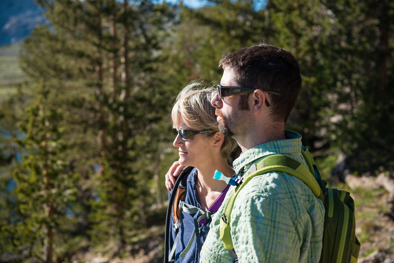 John and Sue at the top of the hike!