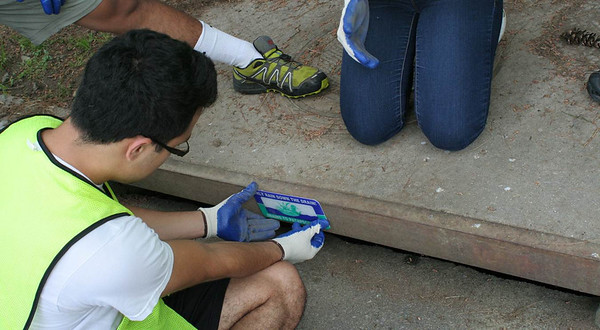 May 2012 Storm Drain Marker & Watershed Education Distribution by Eagle Scout Julen Rodriquez