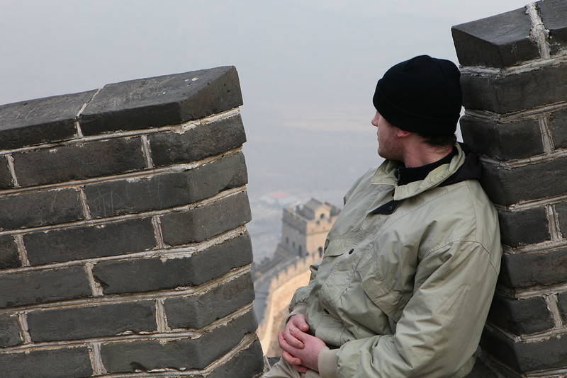 Igor resting at a high point in Great Wall.jpg