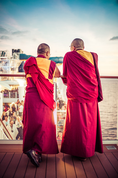 Monks On A Cruise Ship