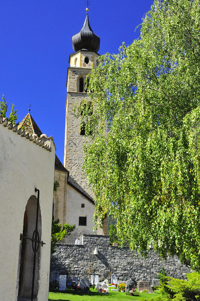 Gorenza church with cemetary