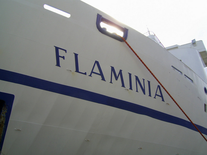 2007 - F/B FLAMINIA : name on bow.