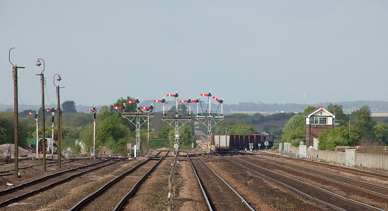 Loaded ore train leaves Wrawby Junction headed for Scunthorpe.