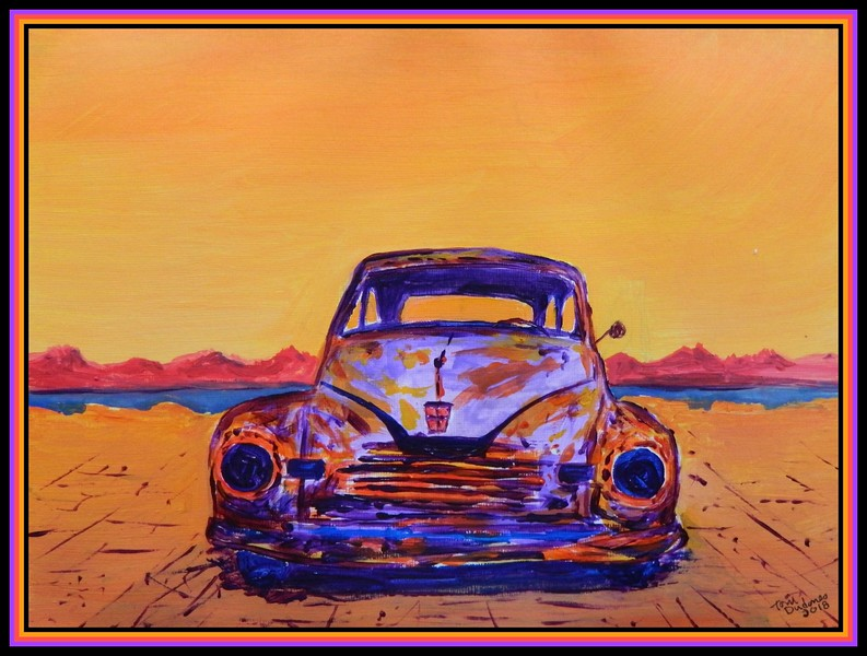 1946 Nash Coupe, 9x12, acrylic on paper, june 27, 2018.