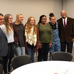 Bishop Meets with UIndy Students and Faculty