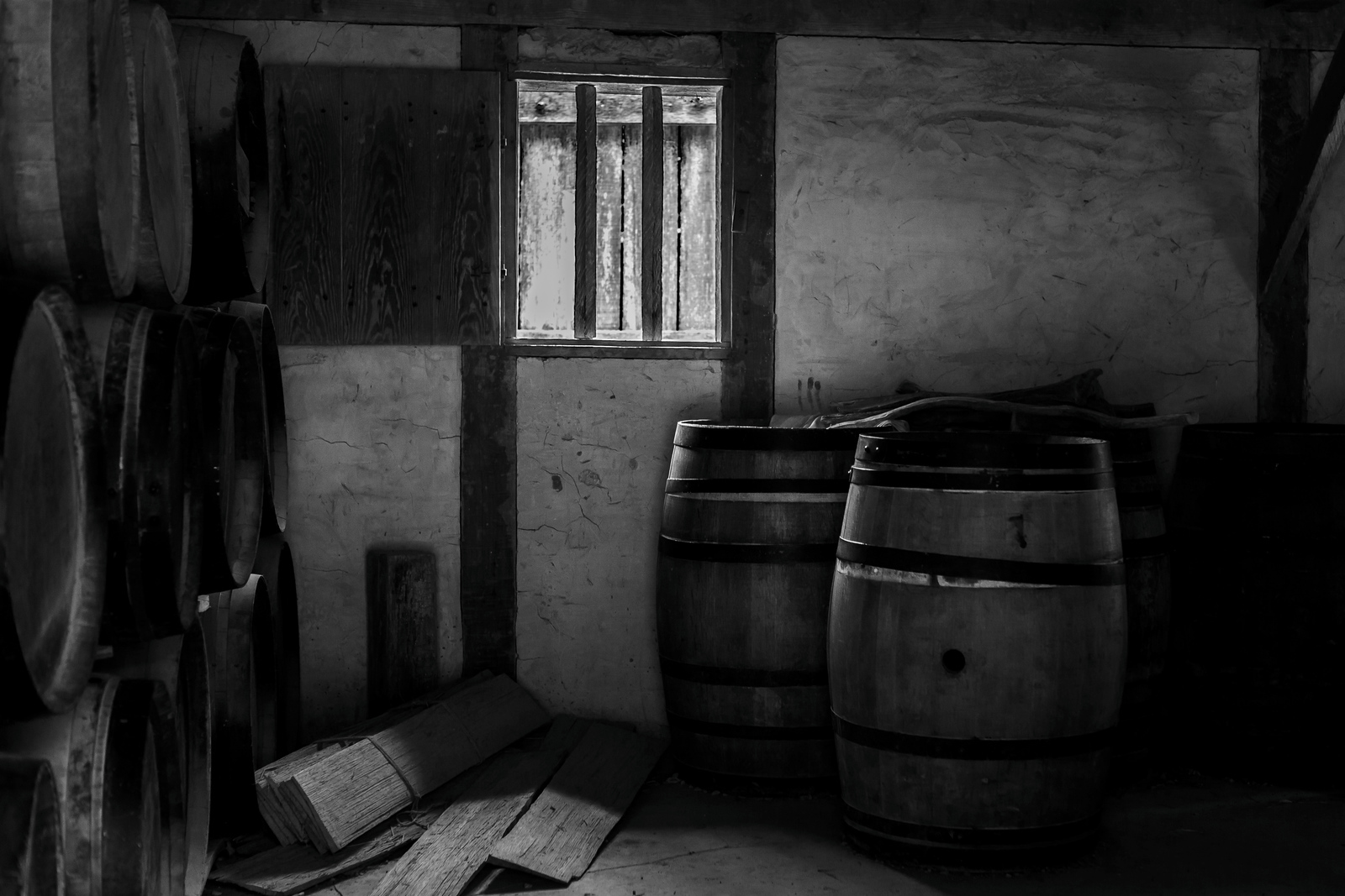 詹姆斯敦殖民地公园,那时的酒窖