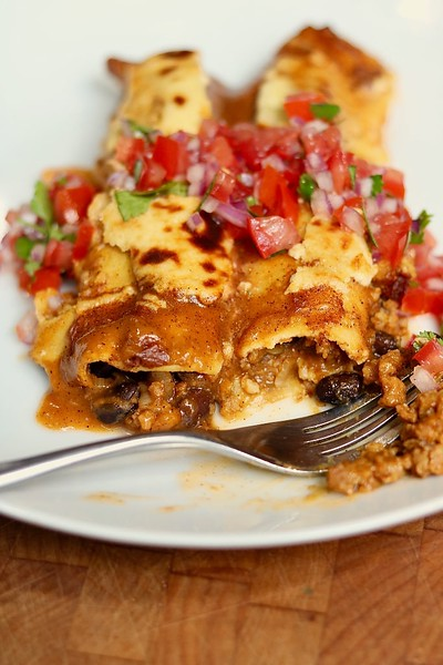 Vegan Enchiladas with Homemade Sauce