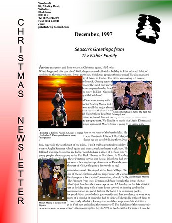 Christmas 1997 Fisher Family Newsletter