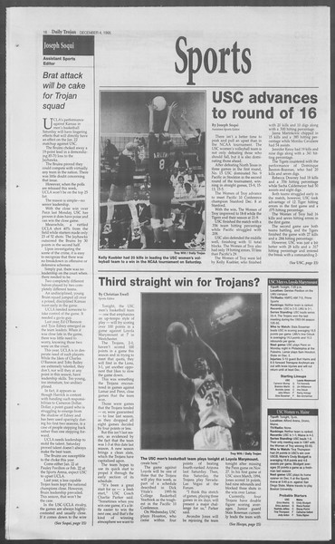 Daily Trojan, Vol. 126, No. 62, December 04, 1995